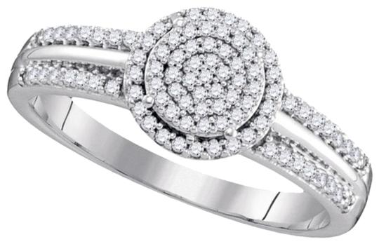 Other BrianG DESIGNER 10k WHITE GOLD 0.25 CTTW DIAMOND LADIES MICRO PAVE LUXURY FASHION ENGAGEMENT RING