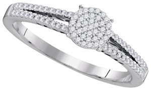 Other BrianG DESIGNER 10k WHITE GOLD 0.20 CTTW DIAMOND LADIES MICRO PAVE LUXURY FASHION ENGAGEMENT RING
