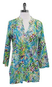 Lilly Pulitzer Multi Color Long Sleeve Cotton Tunic