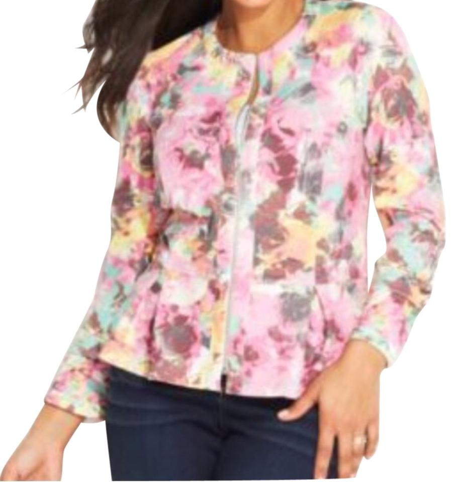 d544711998b INC International Concepts Floral Peplum Jacket Blazer Size 22 (Plus ...