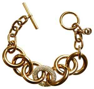 Michael Kors Pave Chain Link Toggle Bracelet NEW!