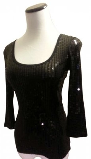 Express Top Black Sequined