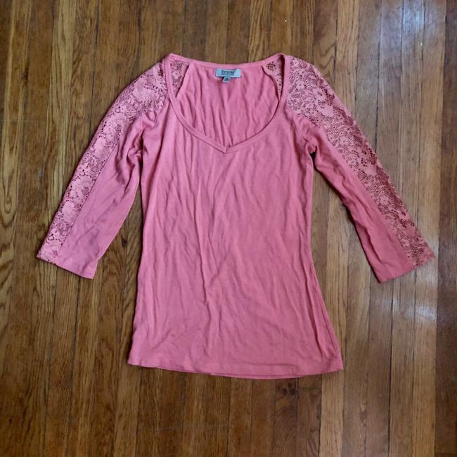 Item - Quarter Sleeve with Lace Tee Shirt Size 4 (S)