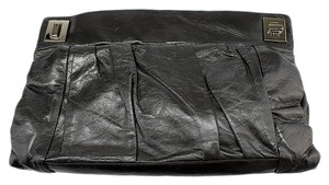 Kooba Leather Dark Gray Clutch