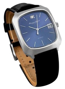 IWC 1978 IWC Vintage Mens Full Size Quartz Watch, Blue Dial with Date - Stainless Steel