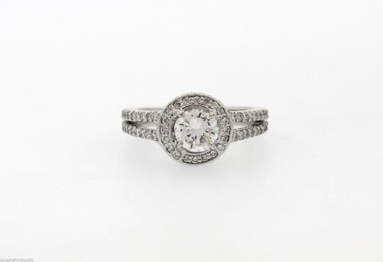 Other 50% OFF EGL 0.71ct E-F VS1 Round Brillant Halo Diamond Engagement Ring Size 5.25