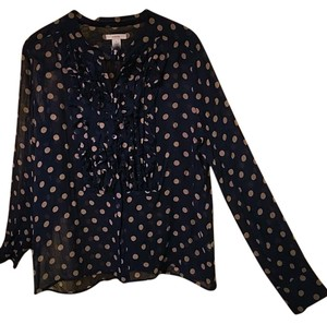 J.Crew Top Navy blue and brown