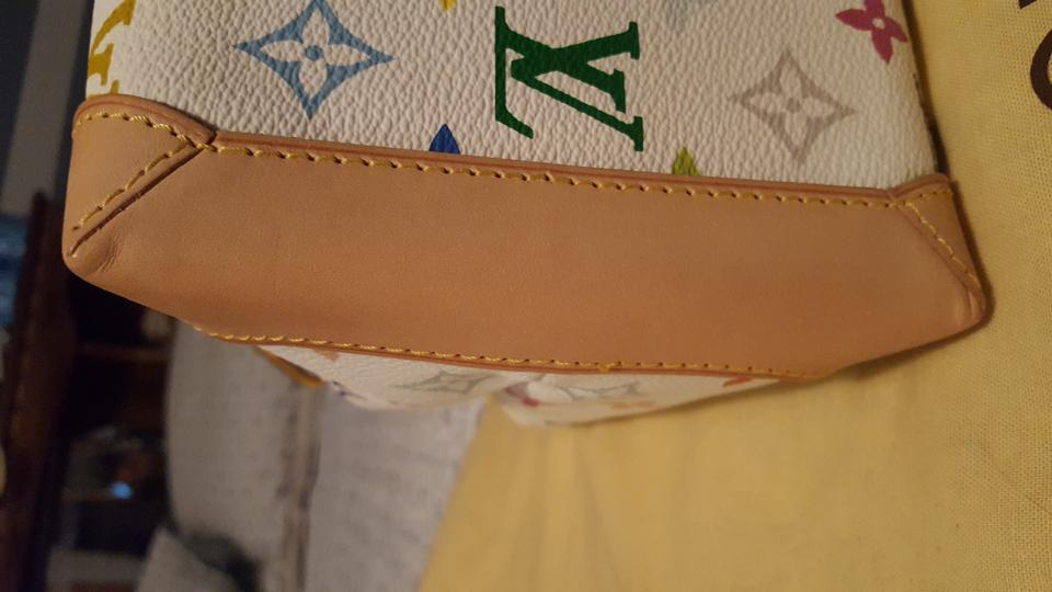 Louis Vuitton Audra Monogram Multicolor Lv Symbols On White Leather