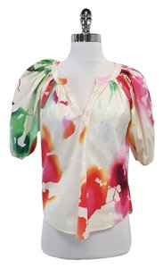 Diane von Furstenberg Multi Color Watercolor Print Top