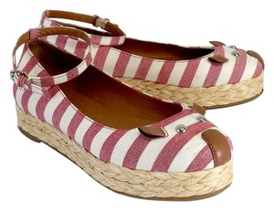 Marc by Marc Jacobs Red White Striped Mouse Flats