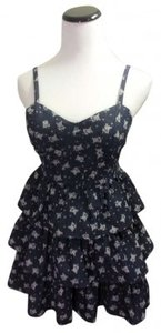 Forever 21 short dress Denim Floral print on Tradesy