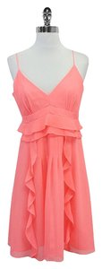 Nanette Lepore short dress Pink Ruffled Pleated Chiffon on Tradesy