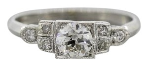 Other Antique Art Deco Platinum .64ctw Diamond Engagement Ring Circa 1930s