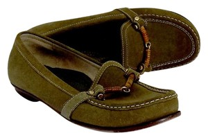 Cole Haan Olive Suede Loafers Flats