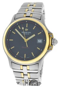 Raymond Weil Authentic Mens Raymond Weil Parsifal 9090 Stainless Steel Gold Quartz 36mm Watch