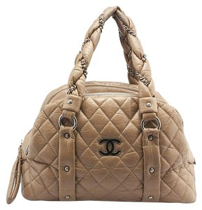 Chanel Ladybraid Bowler Quilted Leather Shoulder Bag