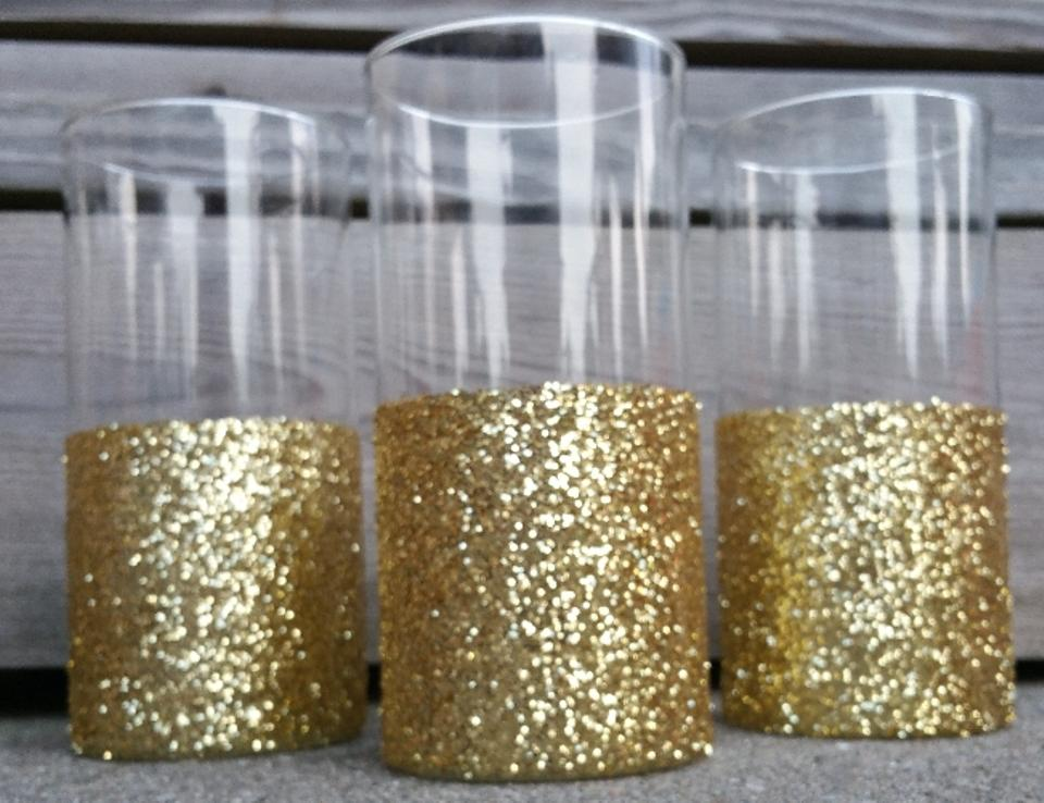 Michaels Gold Glitter Vases Centerpiece Tradesy