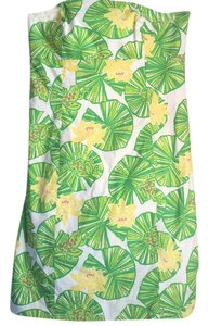 Lilly Pulitzer short dress White, Green, Yellow on Tradesy