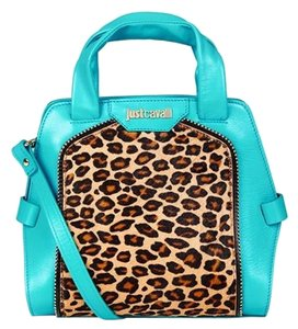 Love Moschino New Collection Satchel in turquoise