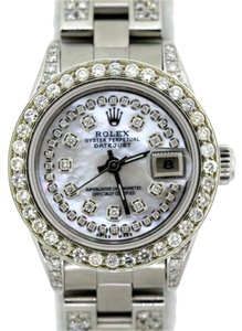 Rolex LADIES ROLEX DATEJUST 4.6CT DIAMOND WATCH WITH ROLEX BOX & APPRAISAL