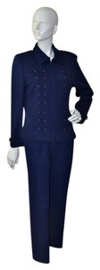 St. John Wool Knit Paillette Pant Suit