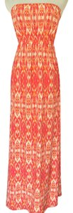 Pink orange multi Maxi Dress by Joie