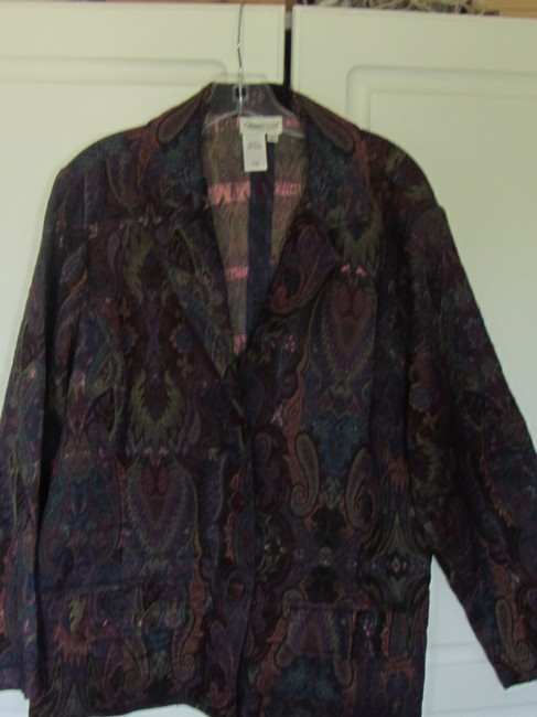 Coldwater Creek multi paisly floral Blazer