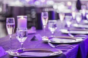 Gorgeous Pewter Crinkle Tablecloths