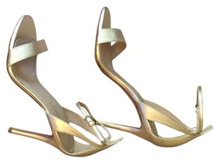 Pura Lopez Gold Sandals