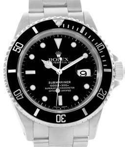 Rolex Rolex Submariner Mens Stainless Steel Black Dial Watch 16610 Year 2001