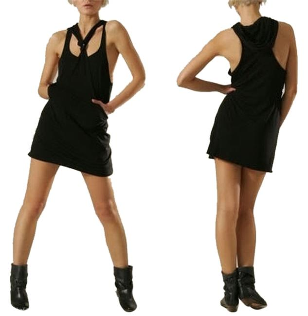 Karen Zambos Black *kz Jerzey Exclusively For Shopbop* Hooded Mini Short Casual Dress Size 2 (XS) Karen Zambos Black *kz Jerzey Exclusively For Shopbop* Hooded Mini Short Casual Dress Size 2 (XS) Image 1