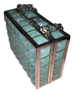Judith Leiber turquoise Clutch