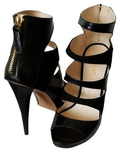 Nine West Black leather & suede Sandals
