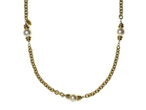 Chanel Chanel Vintage Gold Pearl Filigree Necklace