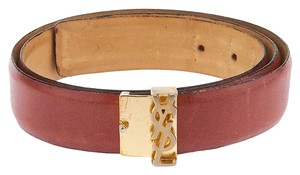 Yves Saint Laurent Yves Saint Laurent Vintage Women's Brown Leather Belt, Size 38/95
