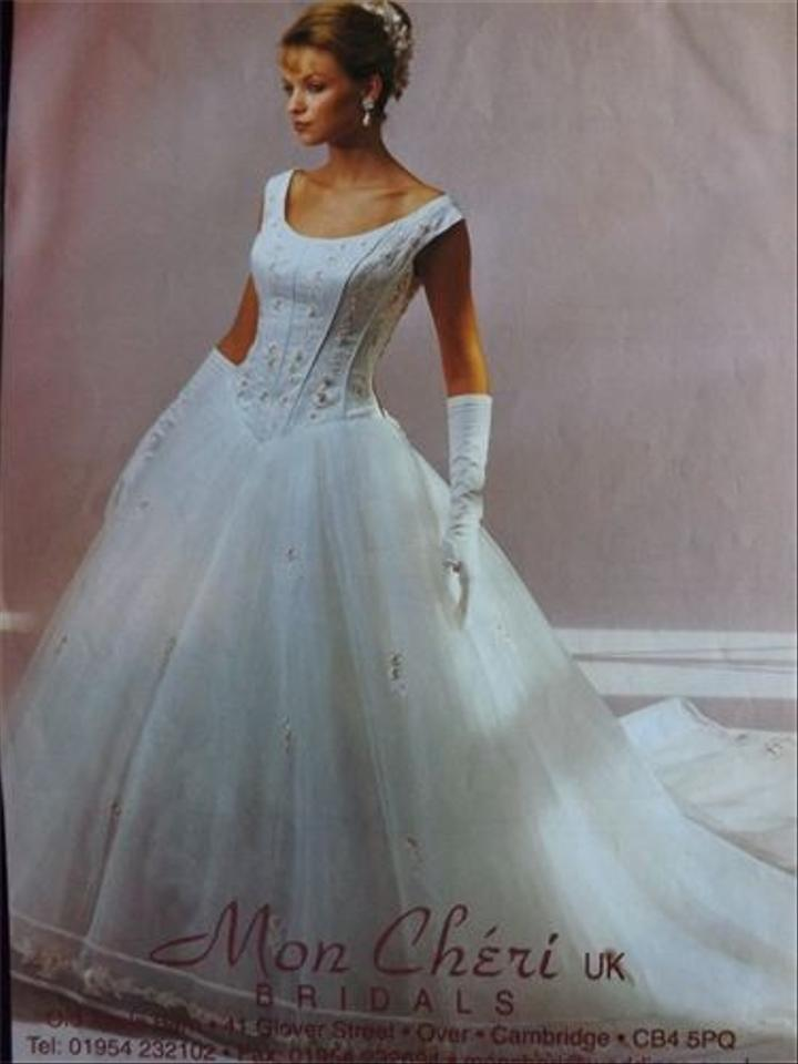 Mon Cheri Ivory Silk Tulle Embroidery 769 Traditional Wedding Dress ...