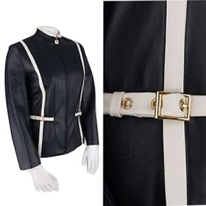 St. John Navy/white trim Jacket