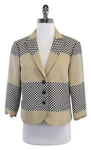 Etro Black White Beige Checkered Jacket