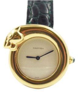 Cartier 1925 Cartier Panther / Panthere Wristwatch 18k Gold 28 mm Water Resistant