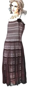 Brown Maxi Dress by Studio M Stretch Lace Long Party Summer