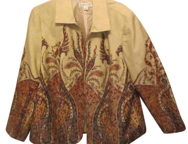 Preload https://item3.tradesy.com/images/coldwater-creek-tan-with-floral-and-paisley-design-spring-jacket-size-20-plus-1x-1654212-0-0.jpg?width=400&height=650