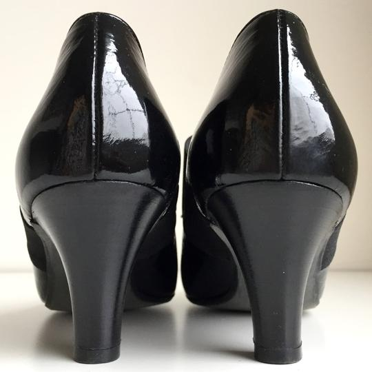 Paul Green Mary Jane Handmade Austria Mary Popping Dance Black Pumps