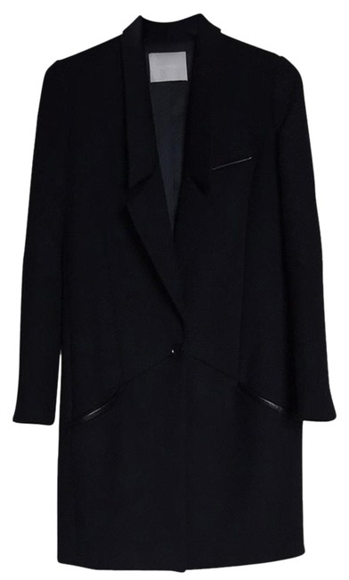 Preload https://item1.tradesy.com/images/jason-wu-black-richelieu-lace-trim-wool-statement-trench-coat-size-2-xs-1654220-0-1.jpg?width=400&height=650