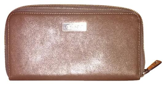 DKNY Brown DKNY leather Zip around Wallet