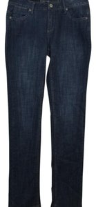 Christopher Blue Dark Straight Leg Jeans-Medium Wash