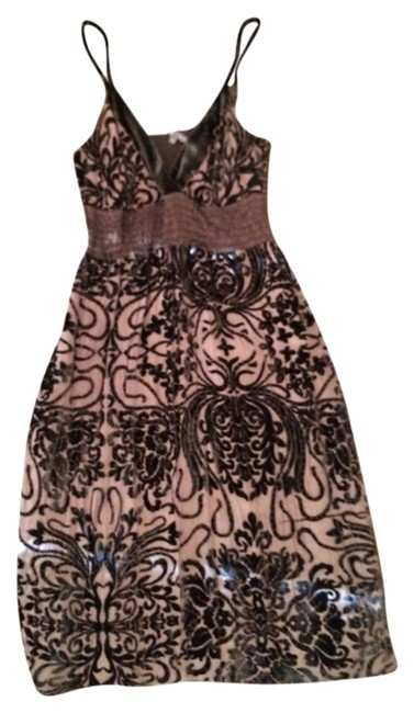 Item - Brown Above Knee Night Out Dress Size 4 (S)