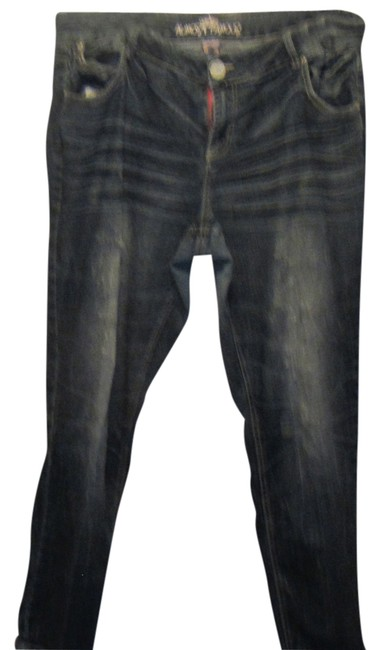 Almost Famous Straight Leg Jeans-Distressed