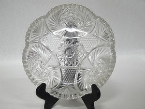 Antique Abp American Brilliant Period Deep Cut Crystal Glass Candy Dish 9