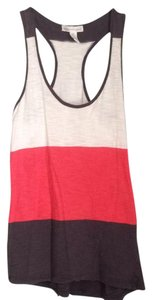 Ambiance Apparel Top White, Coral, Grey