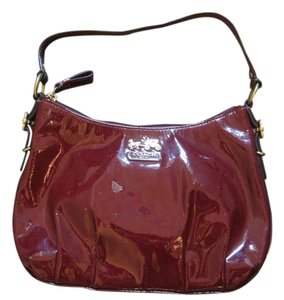 Coach Satchel in Dark Red Patent Leather